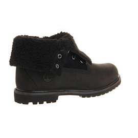 TimberlandAuthentics Teddy Fleece Water Proof Fold Down - Stivali donna Nero (Mono nero)