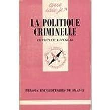 La Politique criminelle