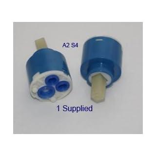 40mm Ceramic Disk/Disc Mixer Tap Spare Cartridge Replacement by Aquaplus