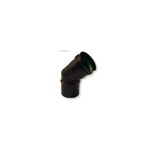 Coude à 45° noir mat avec joint silicone diamètre 80 Gamme APOLLO pellets concentrique réf 892608