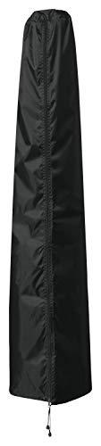 B.PRIME Schutzhülle für Sonnenschirme mit bis zu 250cm Durchmesser - Abdeckhaube H158cm x B20/35cm - Wasserdicht atmungsaktiv und UV-stabilisiert - Premium Abdeckung 210D Polyester Oxford Gewebe