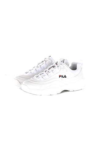 Fila Ray Low, Scarpe da Ginnastica Basse Uomo, Bianco (White 1010561-1fg), 43 EU