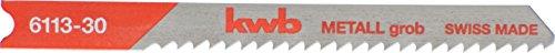 kwb Stichsägeblätter für Metall 611330 (grob, HSS, Universal-Schaft, T118B) u. a. für Einhell RT-JS 85