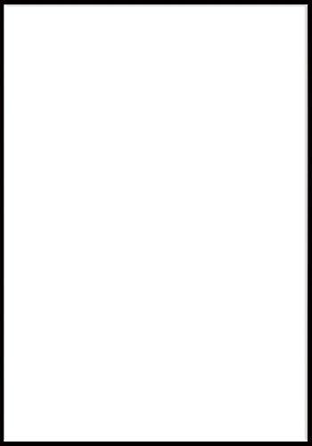 Alu Poster-Rahmen, Wechselrahmen, 61 x 91,5 - Schwarz matt
