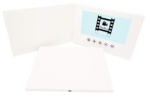 PlayMegram blanko Video-Grußkarte mit 7 Zoll großes LCD-Farbdisplay und USB-Anschluss, Für Videonachrichten, Diashows, Videoprojekte, Video-Marketing,Kreative Geschenkidee