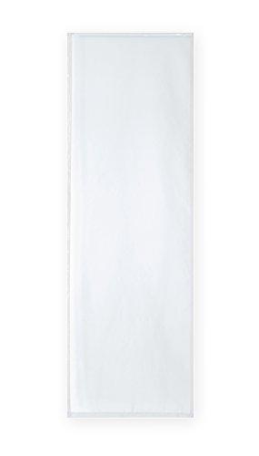 Haus und Deko Voile Uni Schiebegardine transparent ca. 60x245 cm Flächenvorhang Vorhang Gardine #1522 (Weiss)