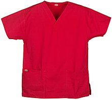 Sandwashed Two Pocket V-Ausschnitt Scrub Top (XS-5X-SKU: 10001ATRDXL; Farbe: True Red; Gr??e: XL XL (Pocket-v-ausschnitt-scrub-top)
