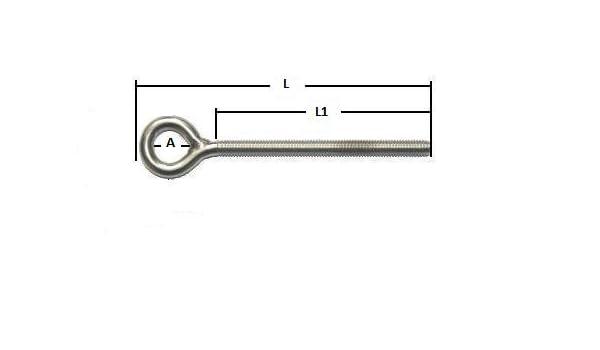 Augenschrauben Ringschraube Edelstahl A4   M5 bis M20  ARBO-INOX