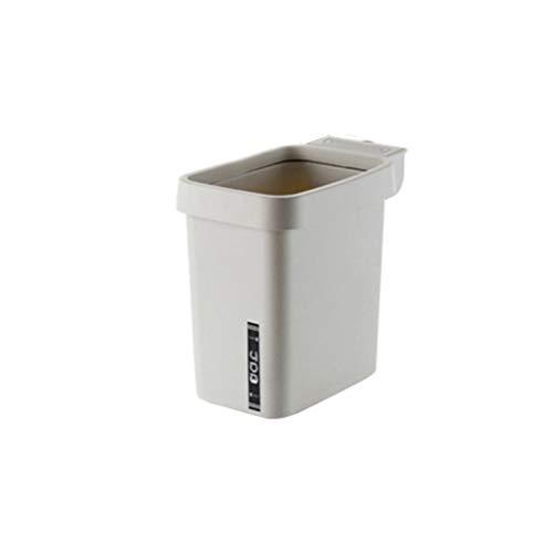 less Druckring Aufbewahrungsbox, Hauptschlafzimmer Küche Wohnzimmer Mülleimer, Multifunktions-Kunststoff-Papierkorb (Größe : M-27cm) ()
