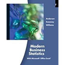 Modern Business Statistics with Microsoft Office Excel by David Ray Anderson (2012-01-01)