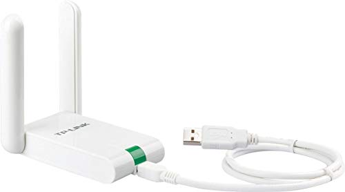 TP-Link TL-WN822N High Gain WLAN Adapter V4 (bis zu 300Mbit/s, WPS, Externe High-Gain-Antenne, mit USB-Verlängerungskabel, unterstützt Windows 10/8.x/7/XP, Mac OS 10.9~10.13, Raspberry Pi) weiß