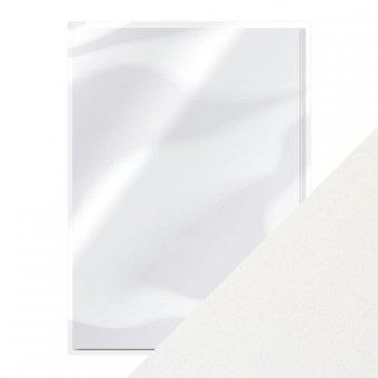 Papier DIN A4 250g 10 Blatt Schreibpapier mit Metallic-Glanz Marble White