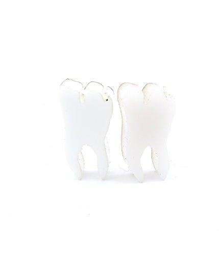 n Ohrschmuck weiss Ohrringe (Zahn Ohrringe)