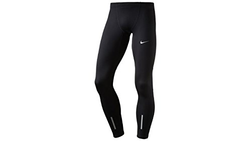 Nike Herren Lauftights Tech Tights Black/Reflective Silver XL