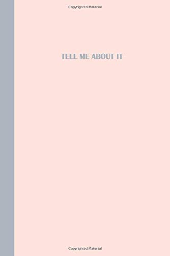 Journal: Tell me about it (Pink and Grey) 6x9 - DOT JOURNAL - Journal with dot grid paper - dotted pages with light grey dots