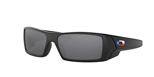 Oakley Gascan Sunglasses Matte Black / Black Iridium Lens / Texas Flag / 60mm