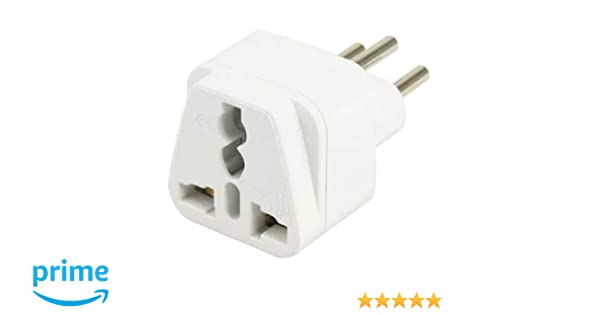 Outlet Type N 2-Ports /& SURGE POWER Travel Adapter Plug for BRAZIL BRAZILIAN