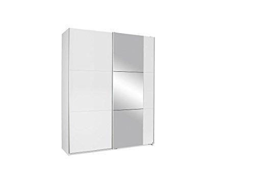 Rauch Kronach Schwebetürenschrank,2trg, Holz, BxHxT 175x210x59 cm, Weiß mit Spiegel