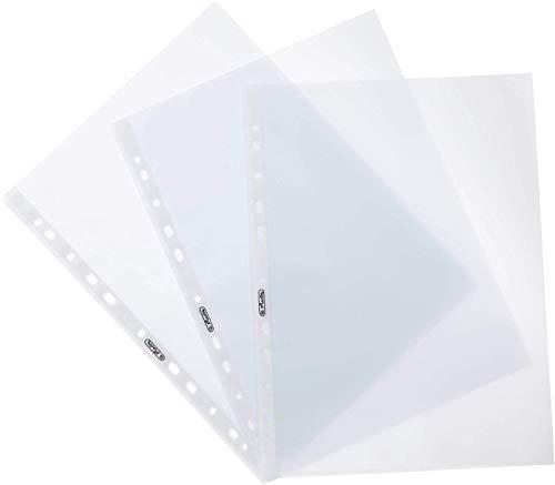 Herlitz 10840320 Prospekthülle A4 genarbt, Premium 100er Packung,dokumentenecht