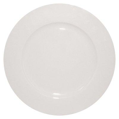 Dema 23 cm Simplicity Rimmed Salad Plate, White