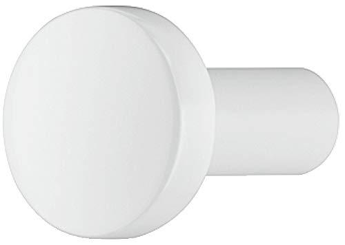 Gedotec Design Möbelknopf weiß matt Schrank-Knopf Vintage für Schubladen - H10046 | edler Möbelgriff Antik rund | Knopf zylindrisch Ø 20 mm | 1 Stück - Möbel-Knauf klassisch mit Möbelschrauben