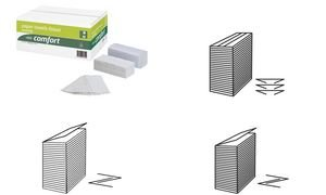 WEPA Handtücher Comfort, 250 x 330 mm, naturweiß