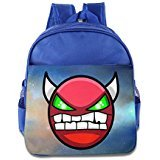 ZZYY Kids Geometry Angry Dash Schoolbag(Zaini) Cool For 1-6 Years Old RoyalBlue