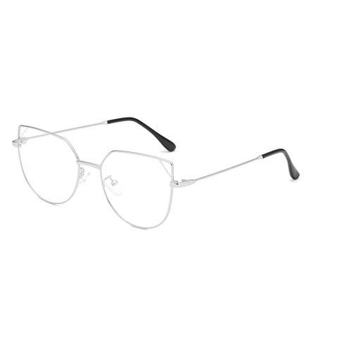 WQIANGHZI Damen Sonnenbrille Lässige Klassische Nerdbrille Rund Metallrahmen Retro Unterschiedliche...