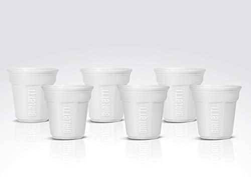 Bialetti Y0TZ5002 Set da 6 bicchierini, Bianco