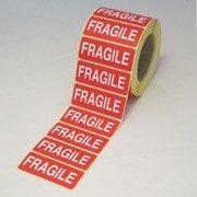 Grapas etiquetas frágiles, paquete: 10