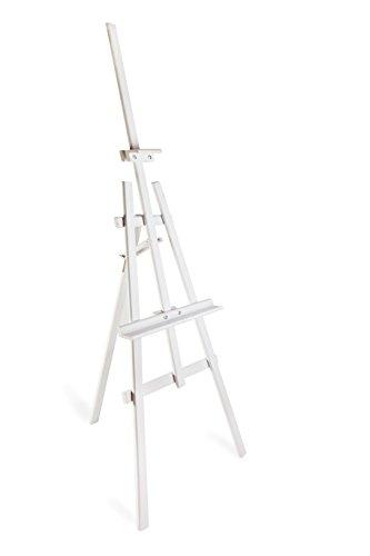 DWA Chevalet Artiste Peintre Toile Tableau Chevalet pour Toile de Peinture en Bois Grand 1800 mm Studio - White