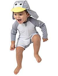 Sunzies einteiliger Baby Badeanzug UV 50+ Sonnenschutz Langärmlig Kinder Mädchen & Jungen (18-24 Monate, Pinguin)