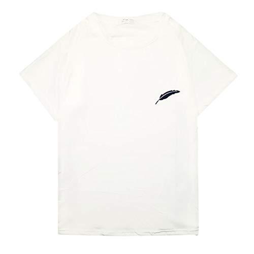 cbdf86d72 Kobay Femmes ÉTé DéContractéE Imprimer O Cou Manche Courte Chemisier T-Shirt (Large,