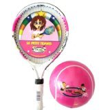 Le Petit Tennis LPT-17 PINK + LPT-B06 Pink + Pump - Raqueta de tenis con pelota grande para niños (43,1 cm, edad recomendada 2-4 años), color rosa