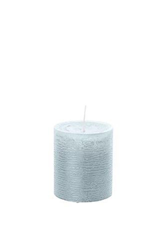 8 Stück durchgefärbte Stumpenkerzen (H x Ø) 80 x 68 mm, Farbe Eisblau, mit ASF-Folie zum Abbrandschutz, Wiedemann Marble Kerzen, Advent, Adventskranz, Weihnachten, Dekoration, Event