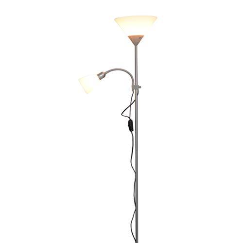 Cspmm lampada da terra, lampada da terra ad arco classica con paralume a sospensione per soggiorno, camera da letto, ufficio den, lounge