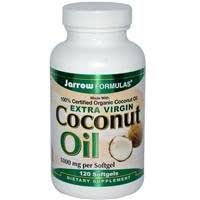 Jarrow Formulas, Huile Coco, Extra Vierge, 1000 mg, 120 Gélules