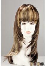 World Wigs Perruque Blonde Carré Très Long Plongeant