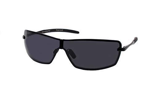 rainbow safety Herren Sonnenbrille Al-Mg Auto Brille Nachtsichtbrille Polarisierte Gläser RWNP3 (Schwarz Cat.3)