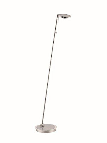 134cm Stehleuchte Farbe: Nickel matt / Chrom LED Stehleuchte Fischer Leuchten 48461