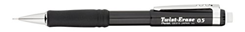 Pentel QE515A Twist-Erase III Druckbleistift, 0,5 mm, schwarzer Schaft -