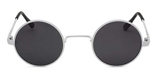 Sonnenbrille Kinder Sonnenbrille Polarisierte Objektiv Kinder Jungen Mädchen Runde Metall Frame Sonnenbrille Uv 400 Weißen Rahmen Streuscheibe Schwarz