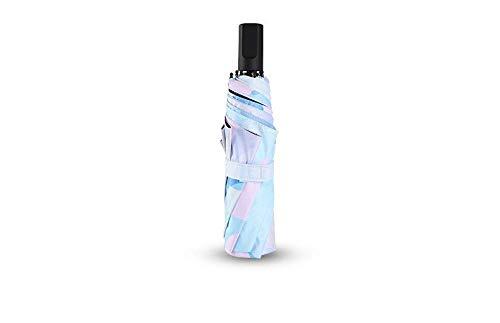 GONGFF Regenschirm Mini Five Taschenschirm Rain Women Black Coating Sonnenschutz Sonnenschirm Kapsel 6K Small Pocket Sun Umbrella Female Paraguas, B -