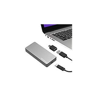 NVMe Enclosure PCIe M.2 SSD Box, USB 3.1High-Performance NVME Solid State Hard Disk Case,HDD Enclosure M.2 M-Key SSD with USB-C Adapter and USB 3.1 Cable