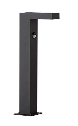 WOFI LED Brooklyn Außenleuchte, Aluminium, 6 W, anthrazit, Höhe: 40 cm