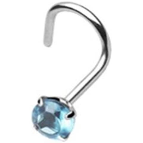 Paula & Fritz 1 mm piercing nose spesso 8 colore vite with dente turchese