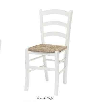 Sedia in legno stile vintage con sedile in paglia disponibile in diverse rifiniture L'ARTE DI NACCHI 4932/SH
