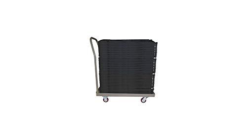 Rekkem 50 chaises Pliantes Noires+ Chariot de Transport