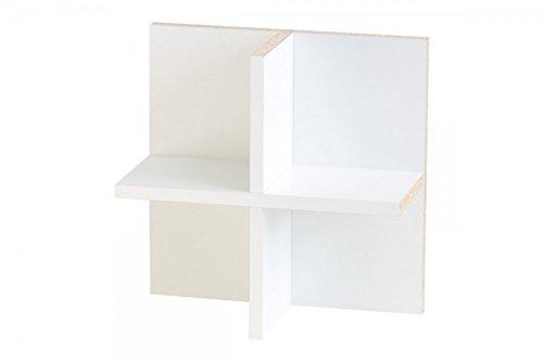 New Swedish Design IKEA Kallax Expedit Regal CD Einsatz Regalkreuz Fach Fachteiler für 60 CDs Rückwand gegen Durchrutschen CD-Regal CD-Storage Aufbewahrung Regaleinsatz 33,5 x 33,5 x 16 cm weiß (Einsätze)