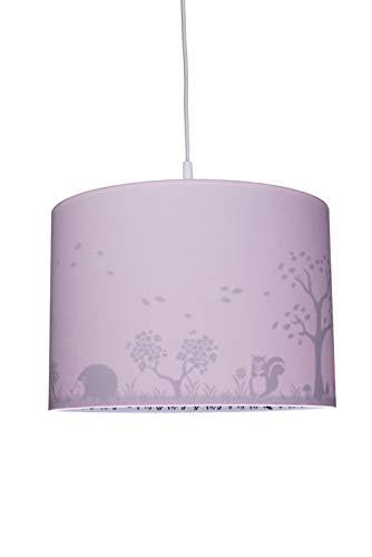 Waldi Leuchten Kinder Pendelleuchte PL rosa Silhouette Reh 1-flammig   40W   70752.0